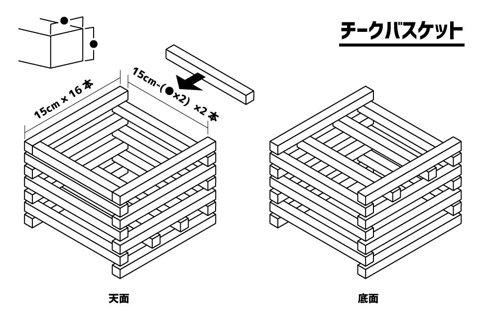 チークバスケット設計図