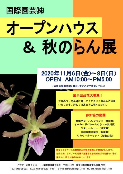 国際園芸オープンハウス&秋のらん展